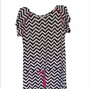 Hatley Navy and White Dress, Size M